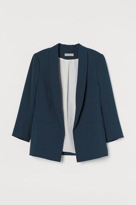 H&M Straight-cut Jacket - Turquoise