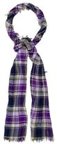 Etro Pleated Plaid Scarf
