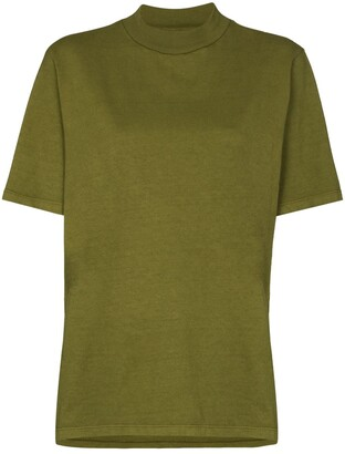 LES TIEN mock-neck cotton T-shirt