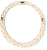 Aurelie Bidermann Diana Gold-plated Resin Necklace - Ivory