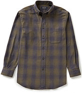 Roundtree & Yorke Casuals Long Sleeve Hombre Plaid Flannel Sportshirt