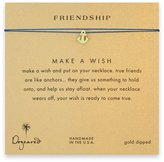 Dogeared Friendship Make a Wish Smooth Anchor Necklace - Dipped