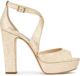 Jimmy Choo Champagne April Heeled Sandals