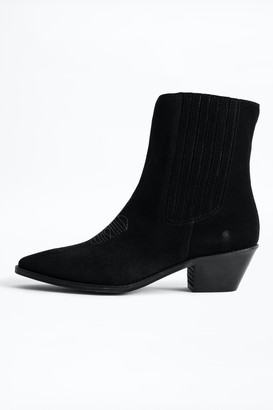 Zadig & Voltaire Tyler Suede Ankle Boots