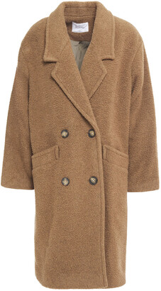 American Vintage Tinaritz Double-breasted Brushed Wool-blend Felt Coat