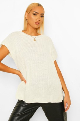 boohoo Crew Neck Knitted Tank