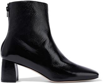 Stuart Weitzman Crinkled Patent-leather Ankle Boots