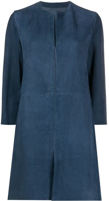 Drome Panelled Concealed Fastening Coat