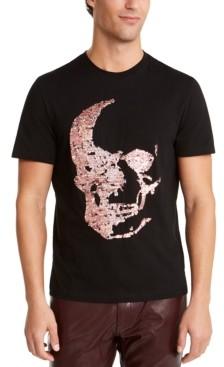 INC International Concepts I.n.c. Men's Renew Sequin Skull T-Shirt, Created For Macy's