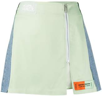 Heron Preston panelled zip skirt