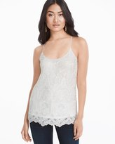 White House Black Market Embroidered Lace Cami