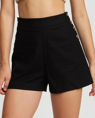 Calli - Women's Black High-Waisted - Breanna Shorts - Size 6 at The Iconic