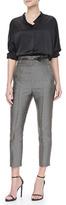 Haider Ackermann High-Waist Cropped Jacquard Pants