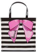 Harrods Small Stripy Bow Shopper Bag