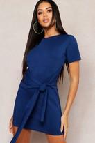 boohoo Tie Waist T-Shirt Dress