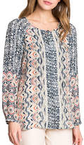 Nic+Zoe Plus Surfside Woven Blouse