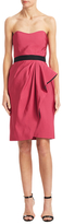 J. Mendel Asymmetrical Pleated Sheath Dress
