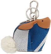 Loewe Blue and White Bunny Charm Keychain