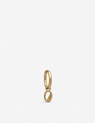 Rachel Jackson O initial 22ct gold-plated vermeil sterling silver hoop