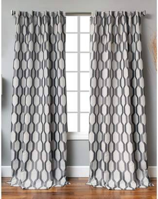 Distinctly Home Back Tab Linen-Blend Window Panel
