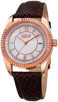 Burgi Unisex Brown Strap Watch-B-167gy
