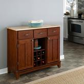 Home Styles Three-Drawer 41.75 in. W Cherry Buffet with Wood Top
