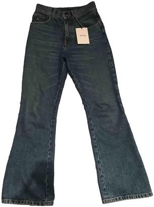 ATTICO Blue Cotton Jeans for Women