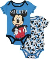 "Disney Mickey Mouse Baby Boys' ""Hey, Mickey!"" 2-Pack Bodysuits"