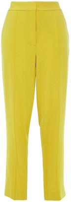 Diane von Furstenberg Riya Cropped Stretch-crepe Straight-leg Pants