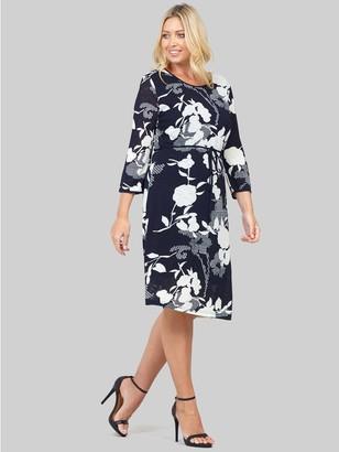 M&Co Izabel Curve floral tie waist shift dress