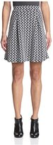 Romeo & Juliet Couture Women's Chevron Pattern Skirt