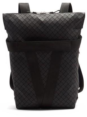 Bottega Veneta Intrecciato Rubber Backpack - Black Silver