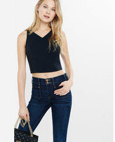 Express tie-back cropped tank