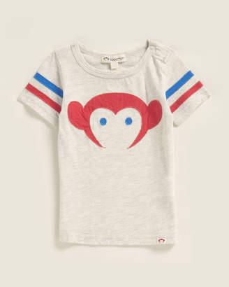 Appaman Newborn/Infant Boys) Cloud Heather Sandlot Logo Tee