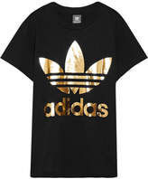 adidas Trefoil Metallic Printed Cotton-jersey T-shirt