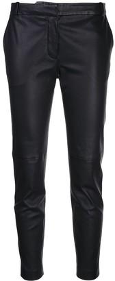 Altuzarra Leather Cropped Trousers
