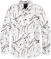 GUESS Men's Marble-Print Shirt