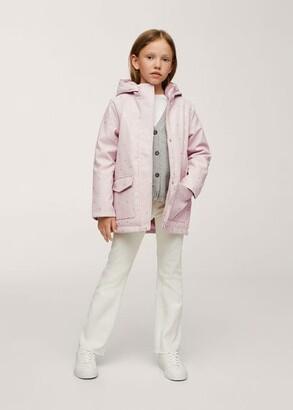 MANGO Faux-fur lining coat