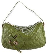Marc Jacobs Quilted Patent Leather Hobo