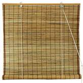 Oriental Furniture Burnt Bamboo Roll Up Blinds - Tortoise - (60 in. x 72 in.)