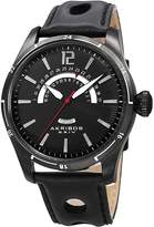 Akribos XXIV Men's Stainless Steel & Leather Watch, 46mm