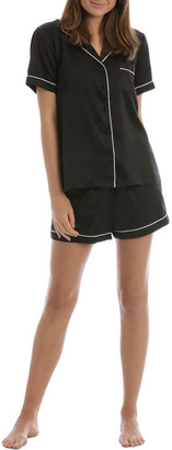Chloé & Lola Satin Basics Short Sleeve PJ Set