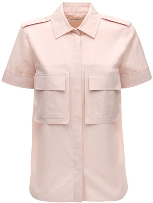 Max Mara Cotton Poplin Short Sleeve Shirt