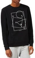 Topman Men's Rapid-Mx Graphic Sweatshirt