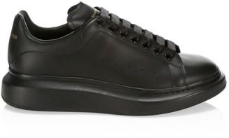 Alexander McQueen Men's Oversized Leather Flatform Sneakers