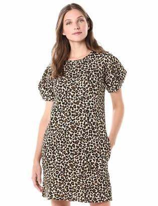 Velvet by Graham & Spencer Women's Jolene Leapord Fleece Dress
