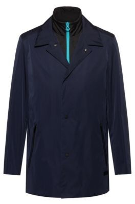 HUGO BOSS Two In One Jacket With Detachable Bib - Dark Blue