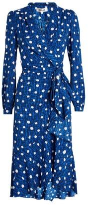 Diane von Furstenberg Carla Polka-Dot Wrap Dress