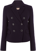 Oasis Long Sleeve Button Front Blazer, Navy