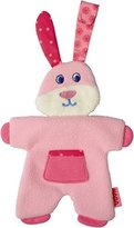 Haba Fleecy Fluffy Pacifier Animal, Pink by